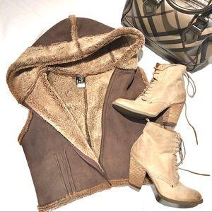 Jackets & Blazers - 🤎🧡GENUINE LAMBSKIN-shearling vest
